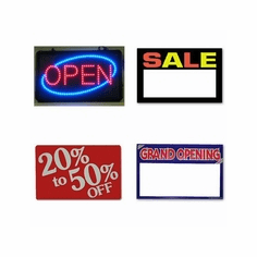 Sale Cards and Signs