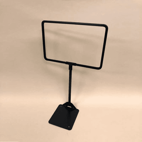 Shovel Base Sign Holder Black 11in.W x 7in.H