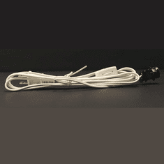 Six-Foot White Cord with Press Fit Mounting