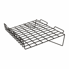 Slatwall 22-1/2in.x 14in. Sloping Wire Shelf Black - Box of 6