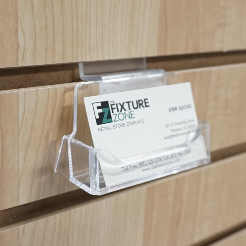 Slatwall Acrylic Business Card Holder