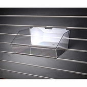 Slatwall Acrylic Molded Bin 12in Wide