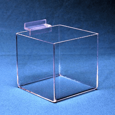 Slatwall Acrylic Open Top Square Bin