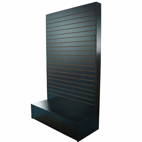 Slatwall L Shaped Merchandiser Black