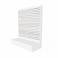 Slatwall L Shaped Merchandiser White