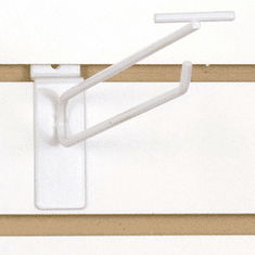 Slatwall Scanner Hook - 10in. White Finish