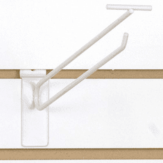 Slatwall Scanner Hook - 12in. White Finish