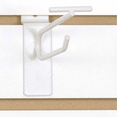 Slatwall Scanner Hook - 4in. White Finish