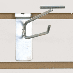 Slatwall Scanner Hook - 6in. Zinc Finish
