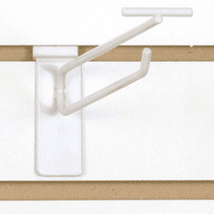 Slatwall Scanner Hook - 8in. White Finish