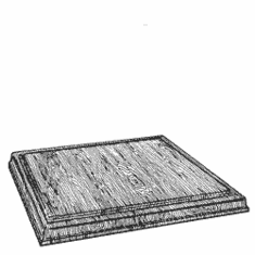 Solid Walnut Square Bases