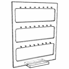 Standing Panel 12 Pair Earring Display
