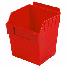 Storbox Cube Plastic Bin for Slatwall Red