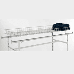Topper Basket For Double Bar Clothing Rack