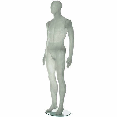 Translucent Fiberglass Male Mannequin with Oval Head