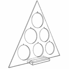 Triangular Ornament Trees