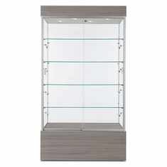 "Wall Display Case 40"" Concrete Groovz"