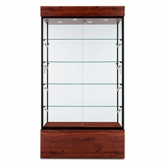 "Wall Display Case 40"" Mahogany"
