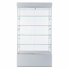 "Wall Display Case 40"" Silver"