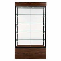 "Wall Display Case 40"" Walnut"