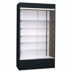 Wall Display Case Black with Light