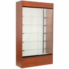Wall Display Case Cherry with Light
