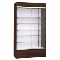 Wall Display Case Chocolate Cherry with Light