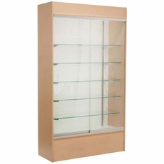 Wall Display Case Maple with Light