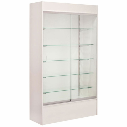 Wall Display Case White with Light