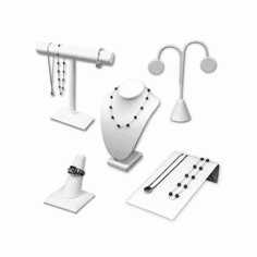 White Leatherette Jewelry Displays