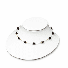 White Leatherette Narrow Large Bust Jewelry Display