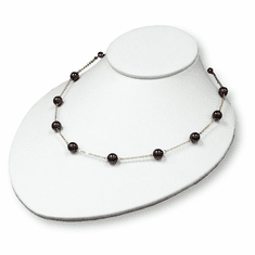 White Leatherette Wide Large Bust Jewelry Display