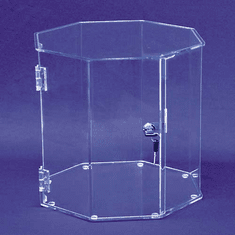 Wide 12in. Tall Hexagonal Display Cases