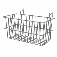 "Wire Baskets for Queuing System 12"" x 6"" x 6"" Silver"