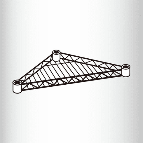 Wire Triangle Shelves Box of 10