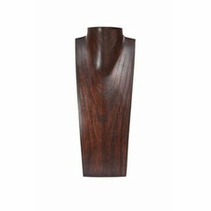 """Wood Brown Necklace Display with Neck 16"""""""