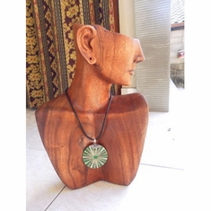 Wood Elite Natural Abstract Necklace and Earring Display