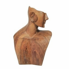 Wood Elite Natural Abstract Necklace and Earing Display