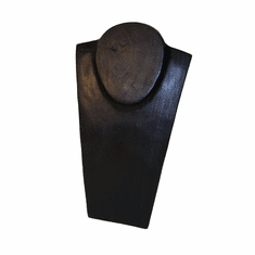 Wood Jewelry Bust Black 11-3/4in.