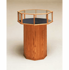 Wood Octagon Feature Display Case