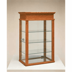 Wood Tall Rectangle Countertop Showcase