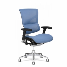 X3 Fabric Management Office Chair Blue