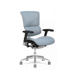 X3 Fabric Management Office Chair Glacier