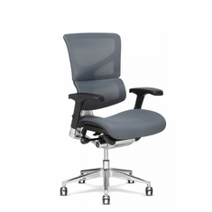 X3 Fabric Management Office Chair Wide Grey