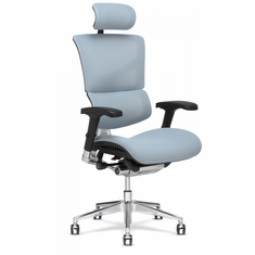 X3 Fabric Management Office Chair with Headrest Glacier