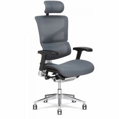 X3 Fabric Management Office Chair with Headrest Grey