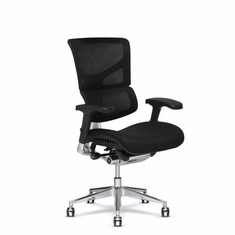 X3 Fabric Office Chair with Memory Foam Wide Black