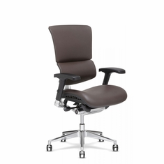 X4 Leather Executive Chair Brown