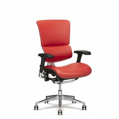 X4 Leather Executive Chair Red