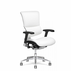 X4 Leather Executive Chair White